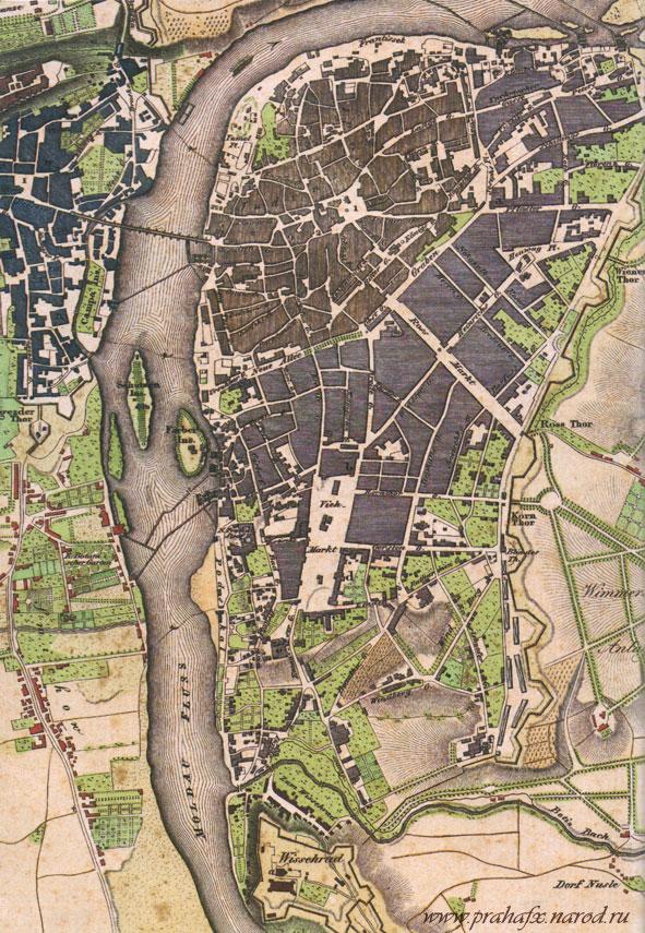 Praga Mystica Mapa1825